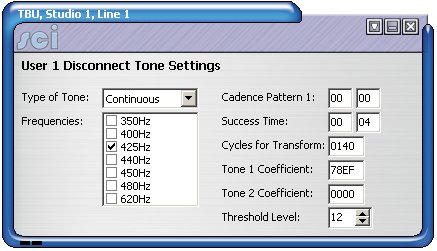 Sonifex SCI DHY03 Disconnect settings